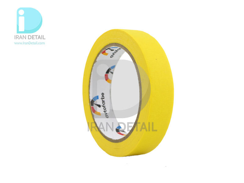 نوار چسب كاغذي مخصوص ماسكه خودرو آوتوفاربه لیمویی Avtofarbe Masking Tape