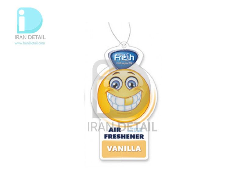 خوشبوکننده کارتی فرش وی مدل Fresh way SMILE VANILLA