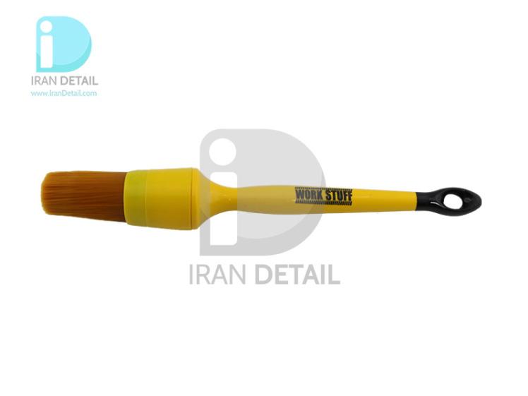 قلم دیتیلینگ سایز 30 آلبینو نارنجی ورک استاف مدل Work Stuff Detailing Brush Albino Orange 30mm