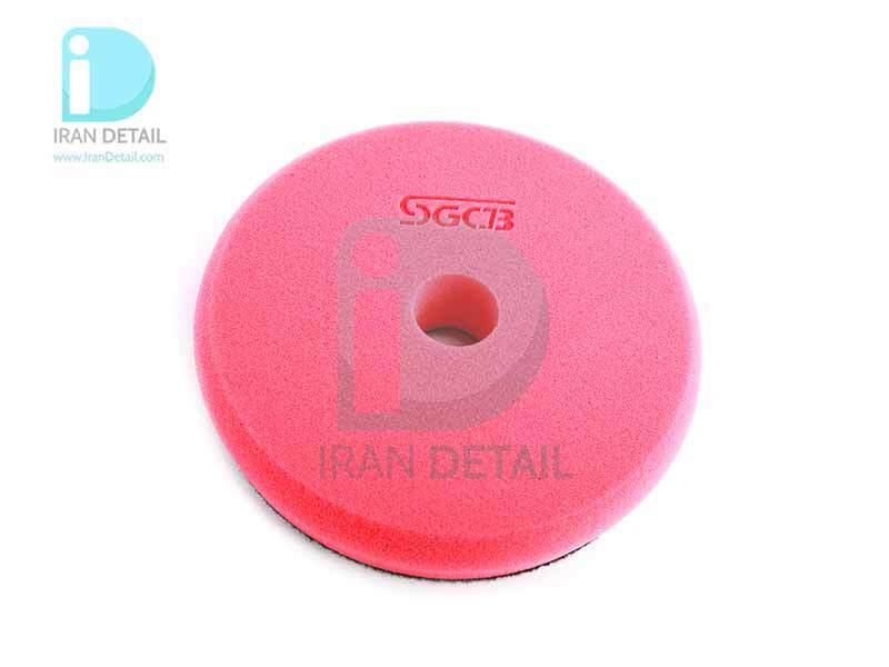 پد پولیش بسیار نرم قرمز اس جی سی بی 130 میلی متری SGCB High Foam Cutting Pad Hook & Loop Red 5inches SGGA103