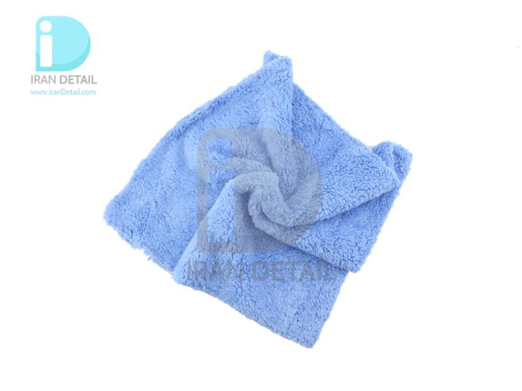 حوله مايكروفايبر آبی اس آر بی مدل 40*40 SRB Microfiber Towel