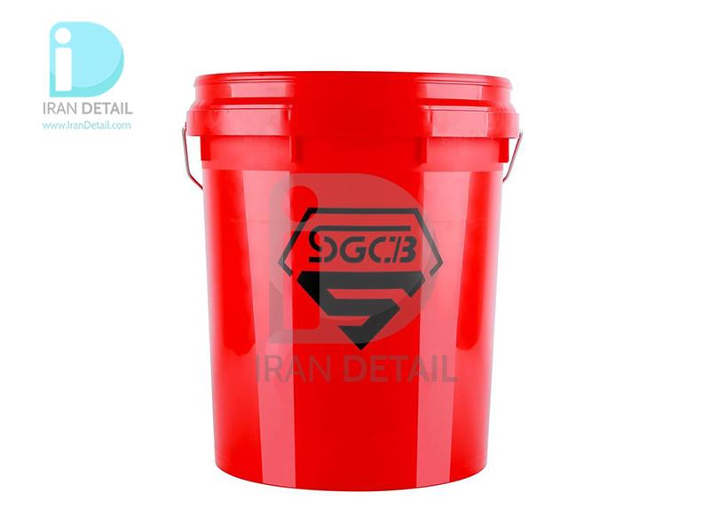 سطل شستشو 18 لیتری قرمز اس جی سی بی مدل