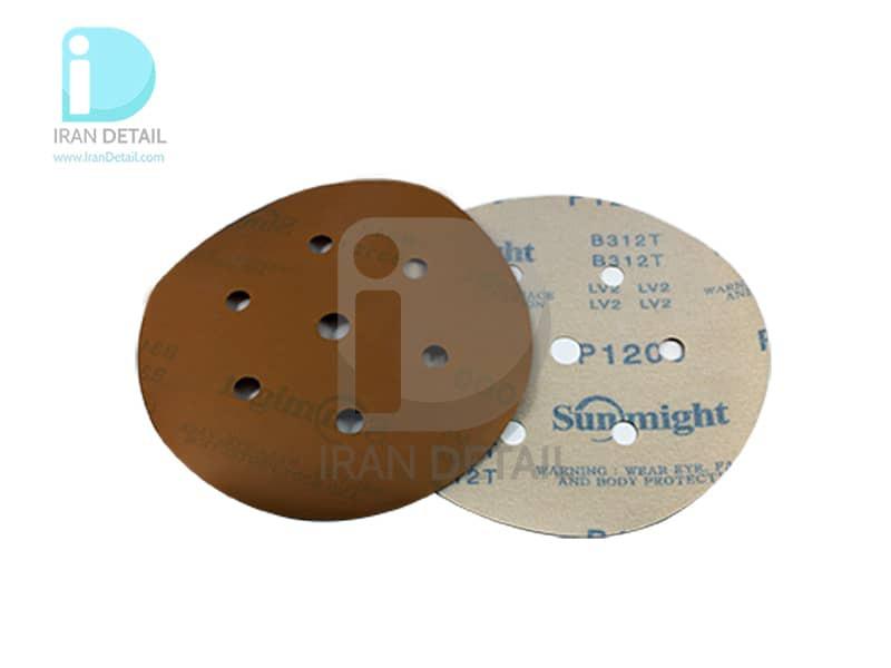ورق سنباده دیسکی (دایره ای) سان مایت مدل Sunmight Abrasive Sheet P120