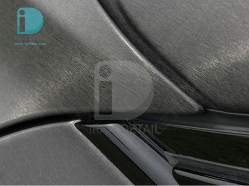 کاور محافظتی پی وی سی مخصوص خودرو رول 25 متری هکزیس مدل Hexis SkinTac HX30BAGANB Brushed Aluminium Anthracite Grey Gloss