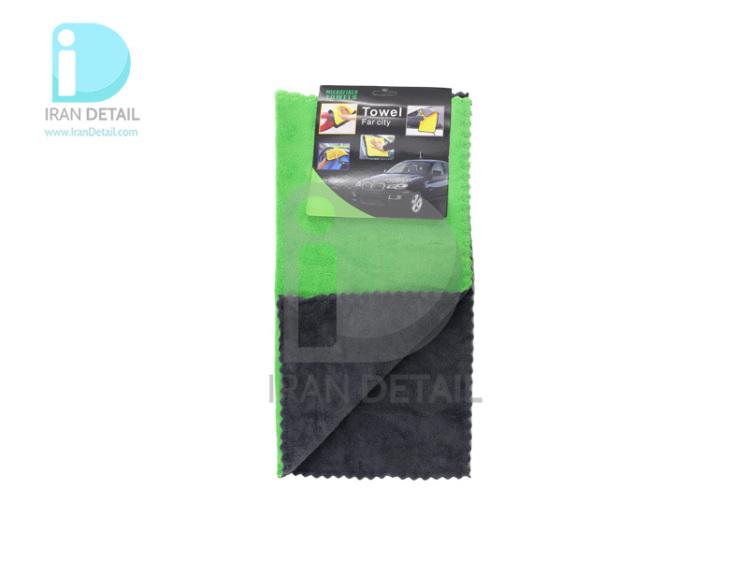 دستمال مایکروفایبر نرم دو رو 40*40 لیزر برش مدل Microfiber Cloths Fine Laser Cut