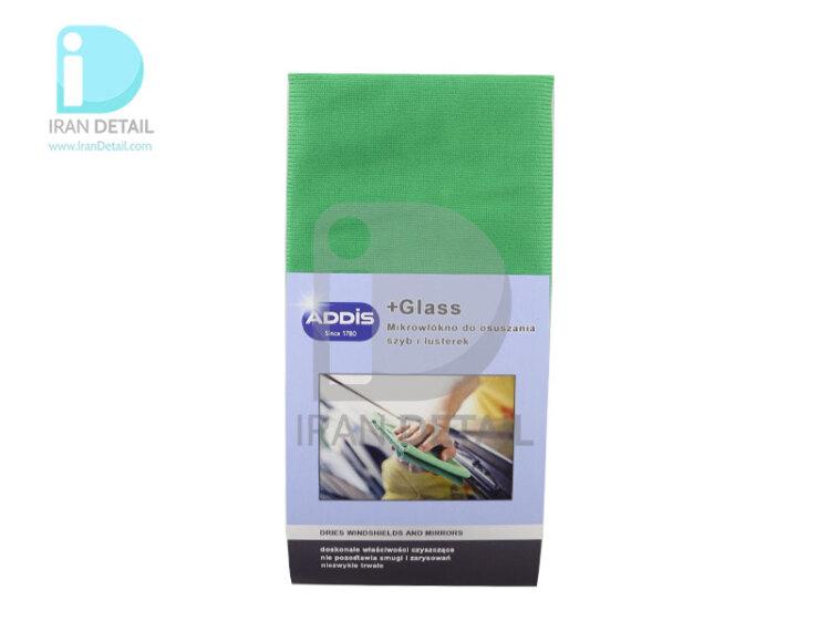 دستمال مایکروفایبر مخصوص شیشه آدیس مدل Addis Microfiber Cloth +Glass