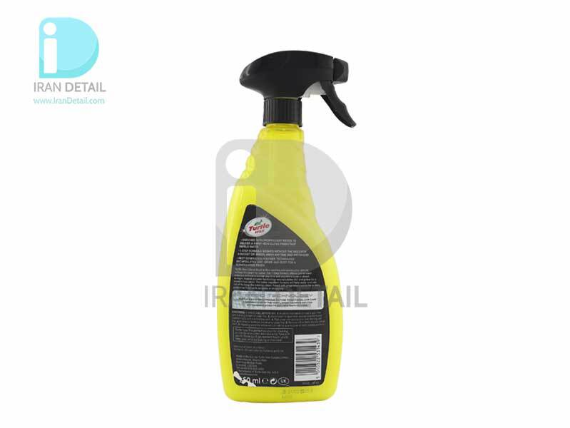 اسپری کارواش بدون آب و واکس ترتل واکس مدل Turtle Wax Hybrid Wash & Wax Waterless Cleaning