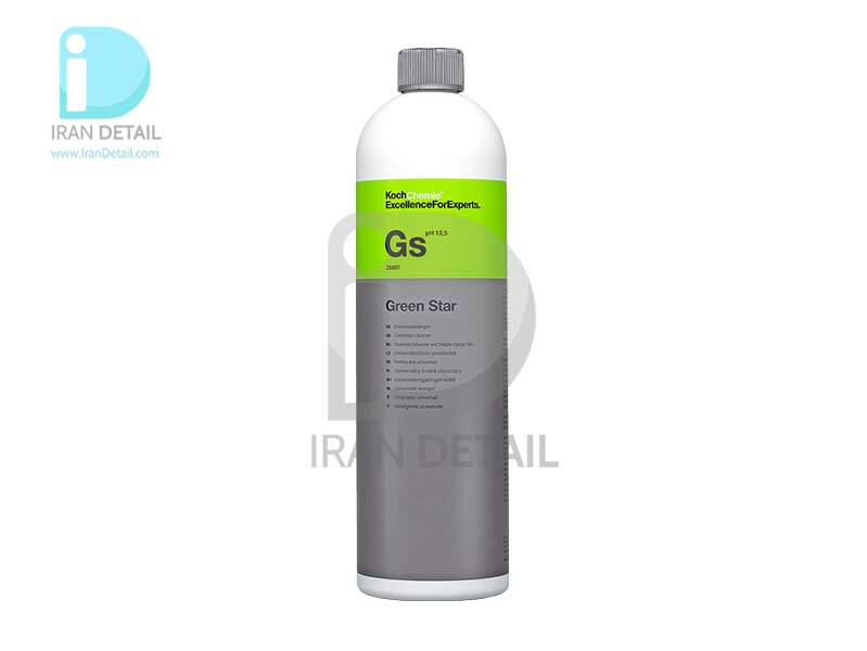 مايع كنستانتره تميزكننده و جرم گير داخل و خارج خودرو يك ليتری كخ كیمی مدل Koch Chemie Gs Green Star Universal Cleaner