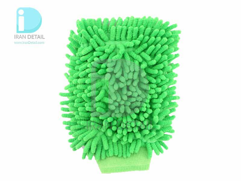 دستكش شستشو مايكروفايبر مخصوص شستشو خودرو سبز Microfiber Wash Mitt Green