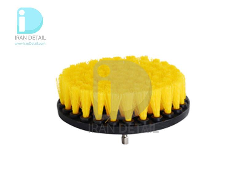 فرچه شستشو متوسط سر دریلی زرد مدل K3