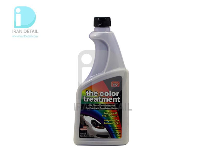 واکس حرفه ای رنگ سفید تریت منت مدل The Color Treatment White Enhanced Car Wax