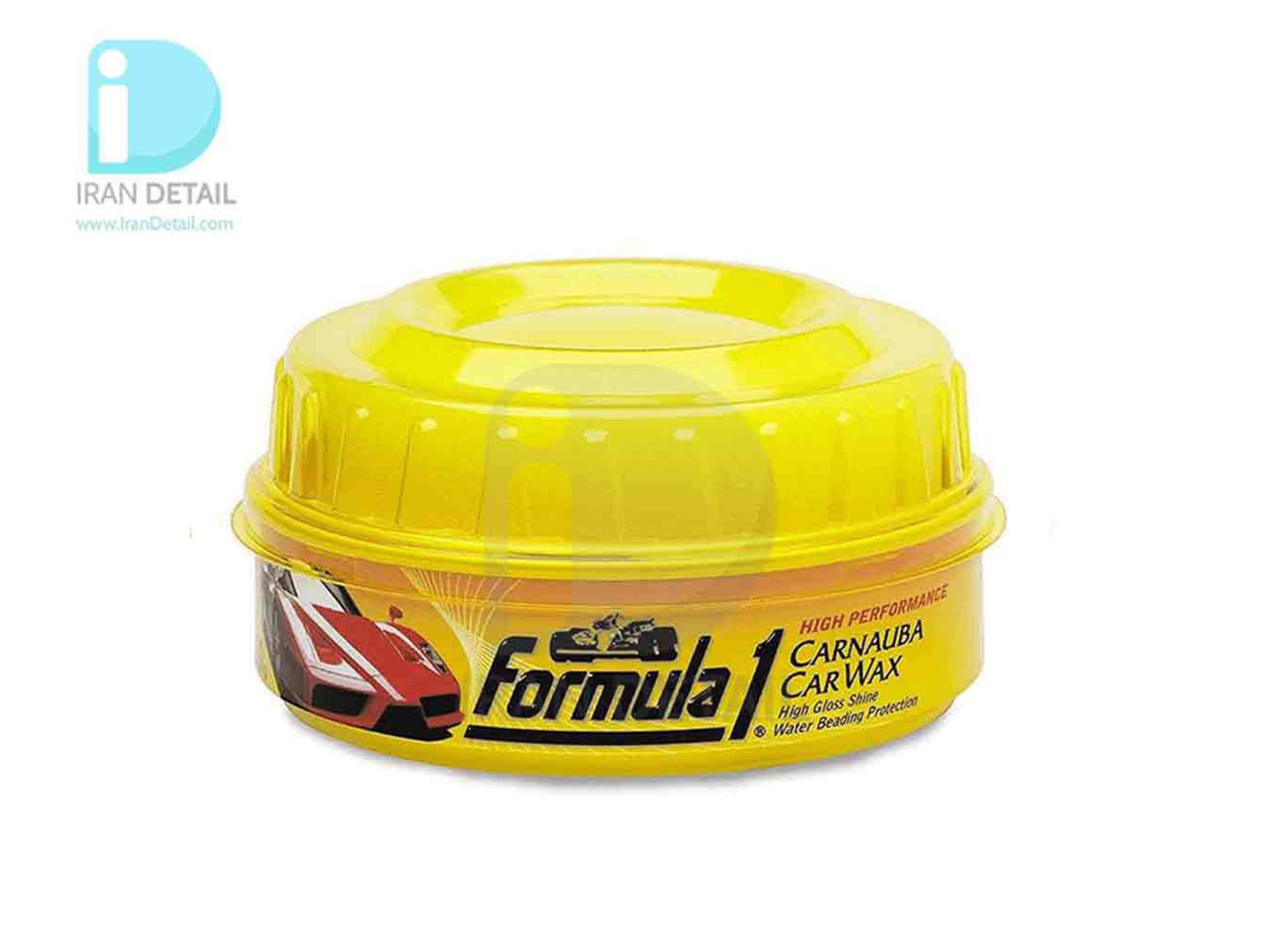 خمیر واکس حرفه ای کارناوبا بدنه خودرو فرمول وان مدل Formula 1 Carnauba Paste Car Wax