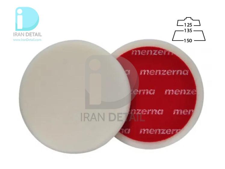 پد پولیش زبر روتاری 135 میلی متری سفید منزرنا مدل Menzerna Polishing Pad Hard White 135mm