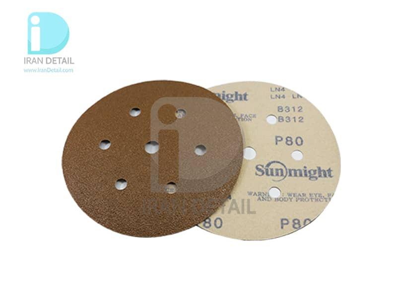 ورق سنباده دیسکی (دایره ای) سان مایت مدل Sunmight Abrasive Sheet P80