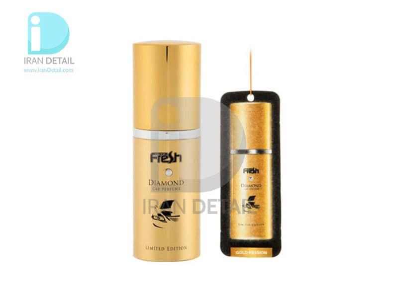 اسپری خوشبوکننده دایموند فرش وی مدل FreshWay Diamond Gold Passion