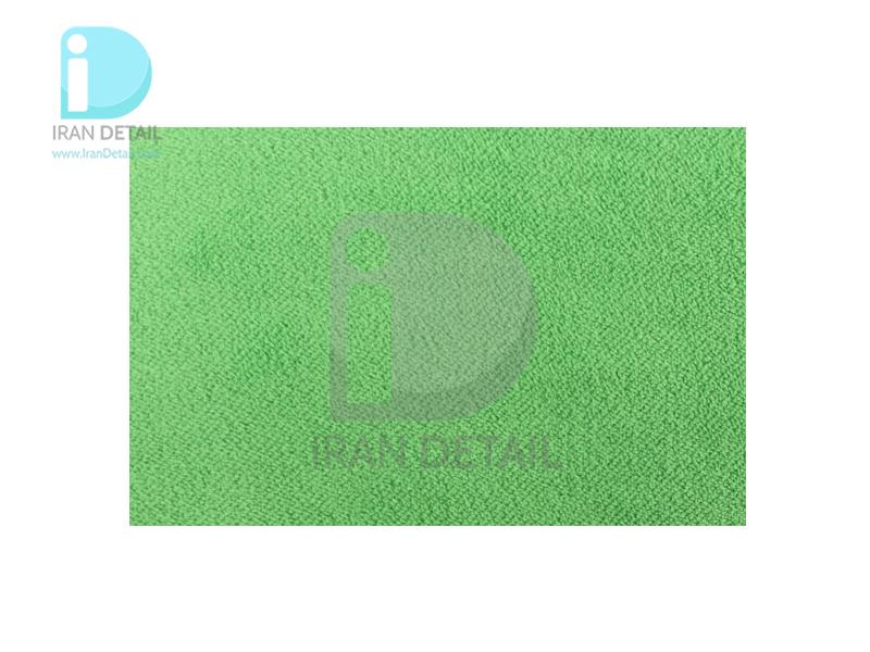 دستمال مایکروفایبر نرم سبز دو رو 40*40 لیزر برش