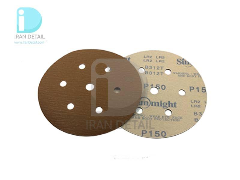 ورق سنباده دیسکی (دایره ای) سان مایت مدل Sunmight Abrasive Sheet P150