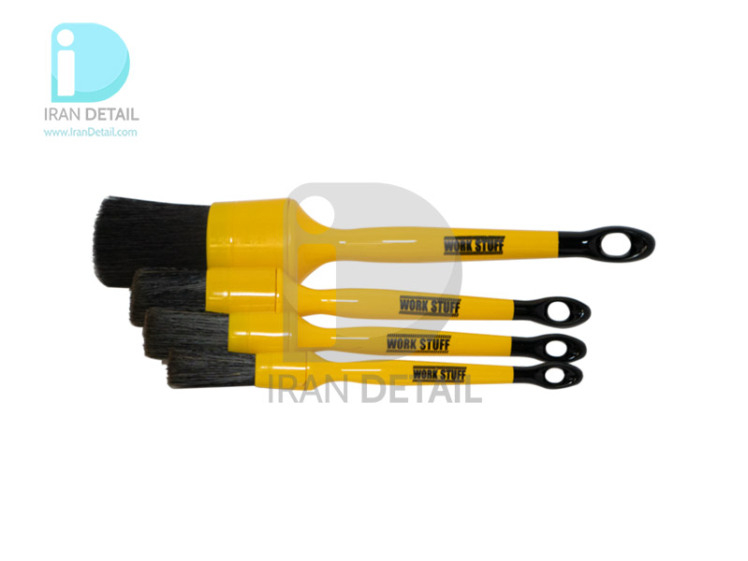 کیت قلم دیتیلینگ مشکی ورک استاف مدل Work Stuff Detailing Brush Black Kit