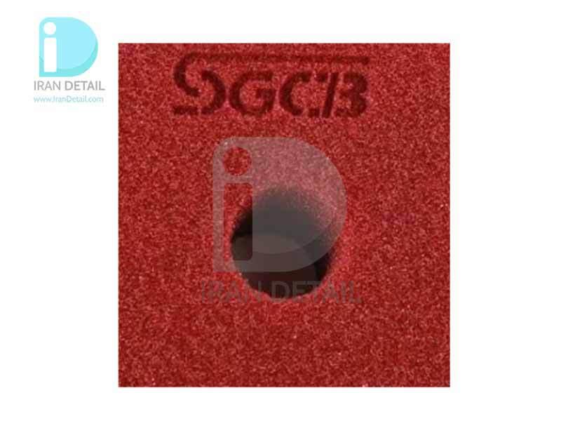 پد پولیش متوسط زرشکی اس جی سی بی 150 میلی متری SGCB High Foam Cutting Pad Hook & Loop Wine 6inches SGGA096
