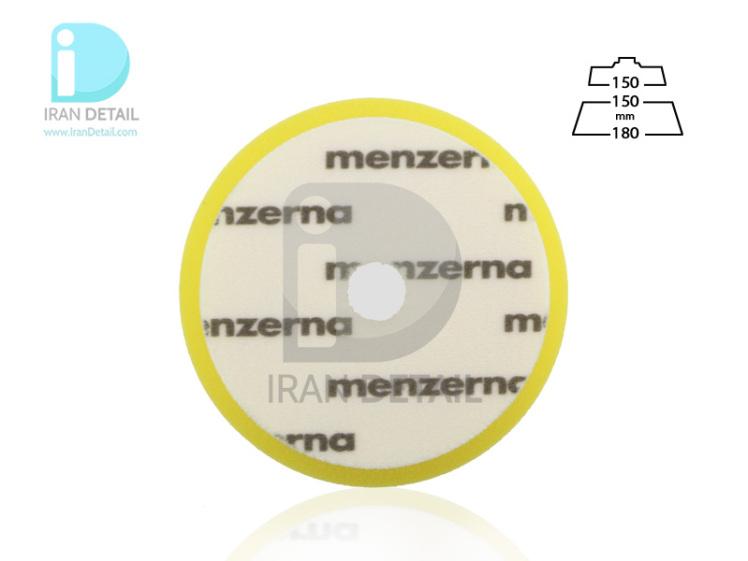 پد پولیش متوسط زرد سایز 150 میلی متری منزرنا Menzerna Medium Cut Foam Pad 150 mm