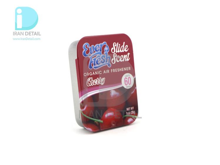 خوشبوکننده کشویی خودرو با رایحه آلبالو اور فرش مدل Ever Fresh Air Freshener Slide Scent Cherry