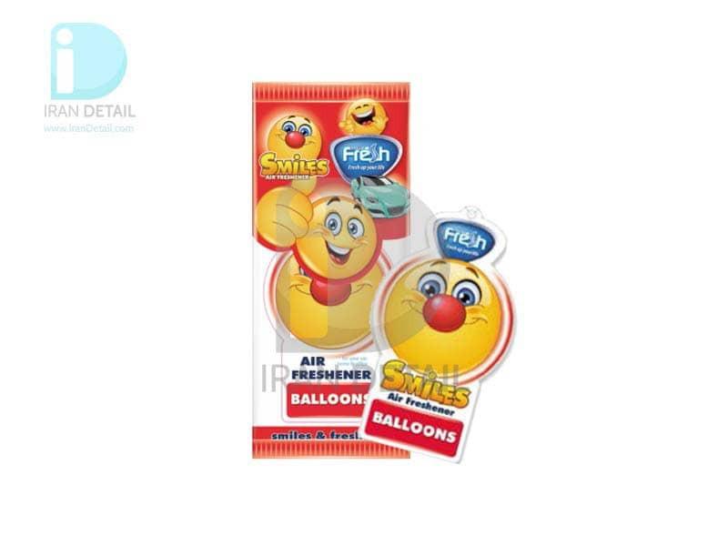 خوشبوکننده کارتی فرش وی مدل Fresh Way SMILE BALLOONS