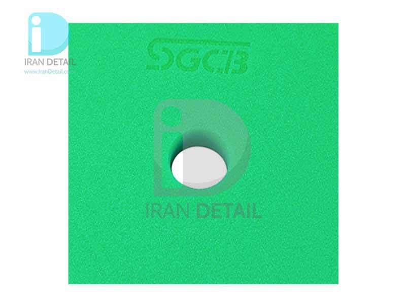 پد پولیش متوسط سبز اس جی سی بی 150 میلی متری SGCB Foam Cutting Pad Hook & Loop Green 6inches SGGA095