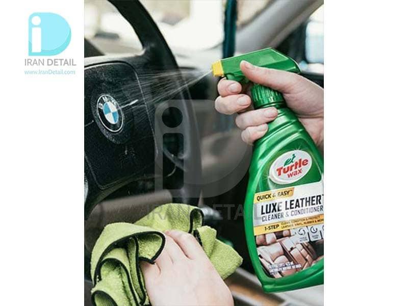 اسپری تمیزکننده و نرم کننده چرم ترتل واکس مدل Turtle Wax Quick & Easy Luxe Leather Cleaner & Conditioner