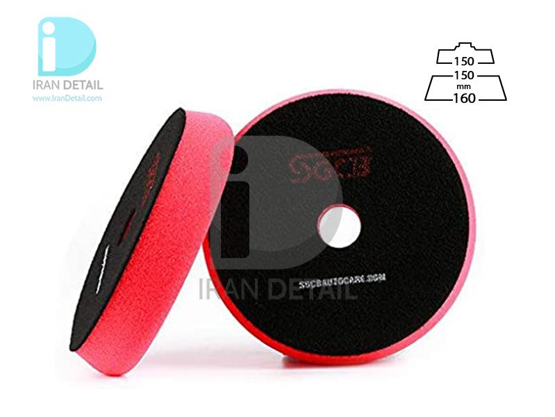 پد پولیش بسیار نرم قرمز اس جی سی بی 150 میلی متری SGCB High Foam Cutting Pad Hook & Loop Red 6inches SGGA098