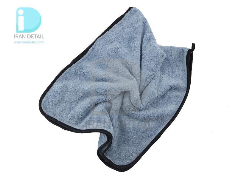 دستمال حوله مایکروفایبر نرم لبه دار آبی روشن 35*75 Microfiber Cloths fine