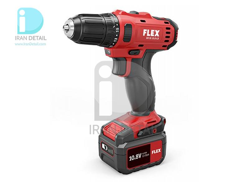 کیت دریل شارژی دو سرعته فلکس مدل Flex 2-Speed Cordless Drill Driver Set DD 2G 10.8-LD