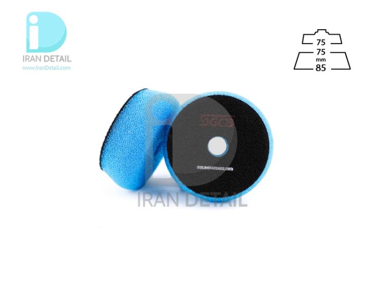 پد پولیش زبر آبی اس جی سی بی 75 میلی متری مدل SGCB Foam Cutting Pad Hook & Loop Blue 3inches SGGA104