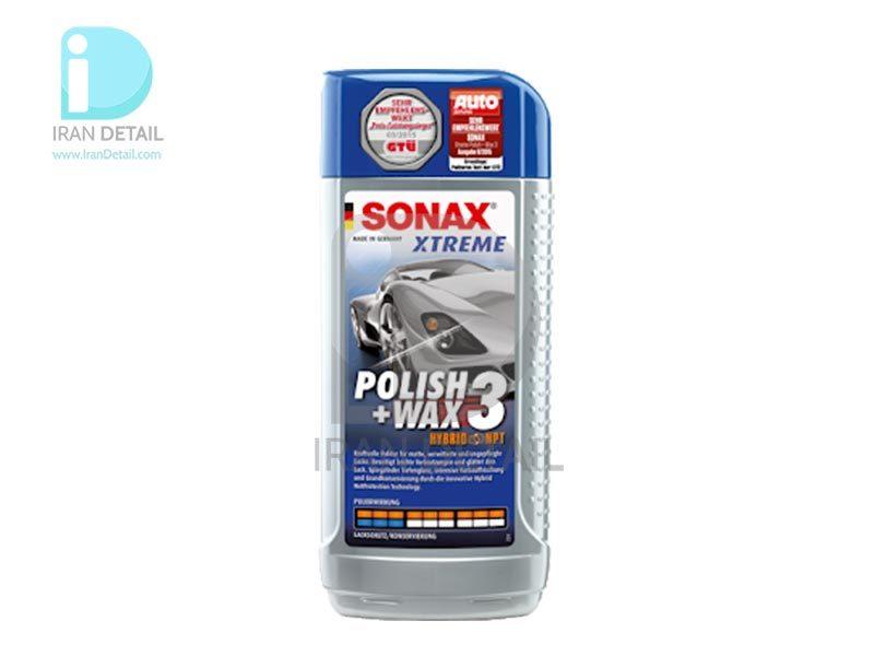 پولیش و واکس اکستریم هایبرید نت 3 سوناکس مدل SONAX Polish & Wax 3 Hybrid NPT
