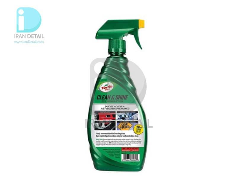 اسپری تمیزکننده و درخشان کننده سطوح خارجی خودرو ترتل واکس مدل Turtle Wax Quick & Easy Clean & Shine Total Exterior Detai