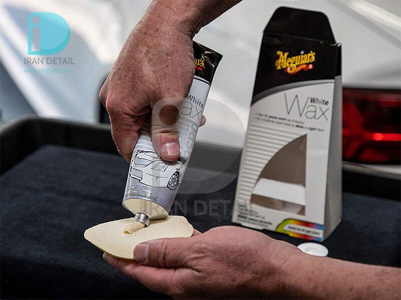 واکس مخصوص خودرو رنگ سفید مگوایرز مدل Meguiars White Wax Cream G6107