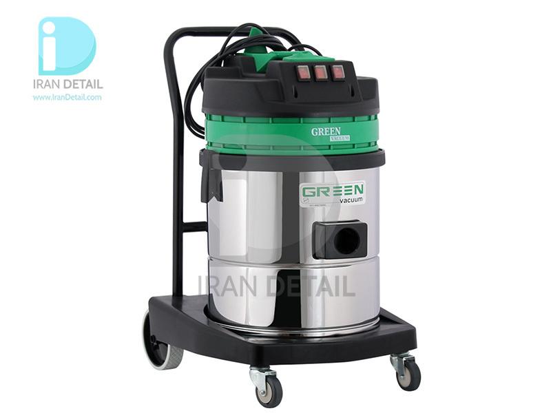 جاروبرقی دو موتور آب و خاک گرین مدل Green Vacuum Cleaner Wet & Dry H352