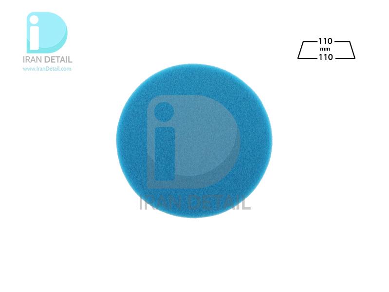 پد پولیش دستی بسیار زبر آبی زیزر 110 ميلی متری مدل Zvizzer Puk Pad Blue PU0011010B