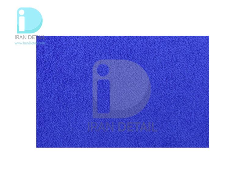 دستمال مایکروفایبر نرم آبی دو رو 40*40 لیزر برش