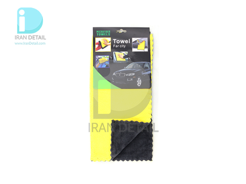 دستمال 30*30 مایکروفایبر زرد