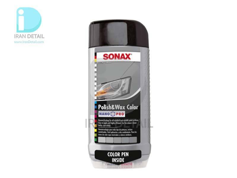 پولیش و واکس طوسی سوناکس مدل SONAX Polish & Wax Color Silver/Gray