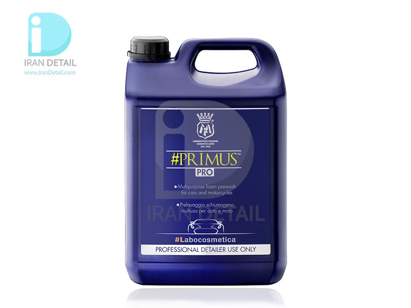 شامپو فوم مخصوص خودرو و موتورسیکلت 4.5 لیتری لبوکاسمتیکا مفرا مدل Labocosmetica #PRIMUS 4.5l Multipurpose Foam Prewash f