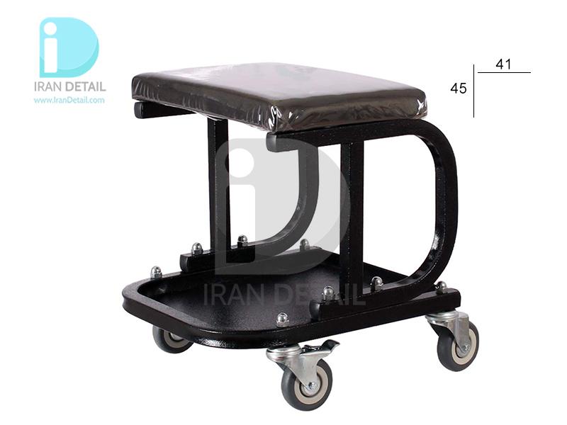 صندلی چرخدار تعمیرگاهی ساده مشکی