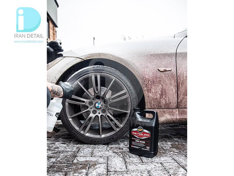 جرم گیر بسیار قوی رینگ و بدنه خودرو مگوایرز مدل Meguiars Wheel & Paint Iron DECON Pro-Strength Iron Remover D1801