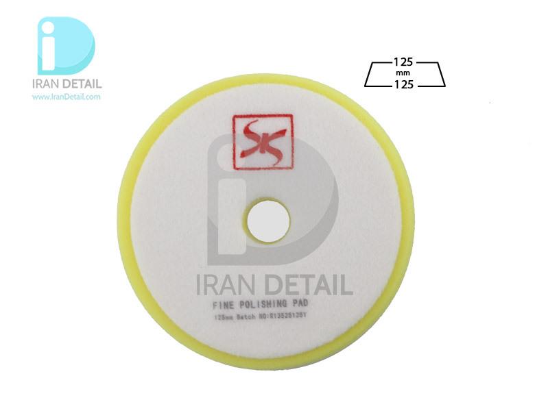 پد پولیش نرم روتاری زرد 125 میلی متری اس آر اس مدل SRS Rotary Fine Polishing Pad Yellow R13525125Y