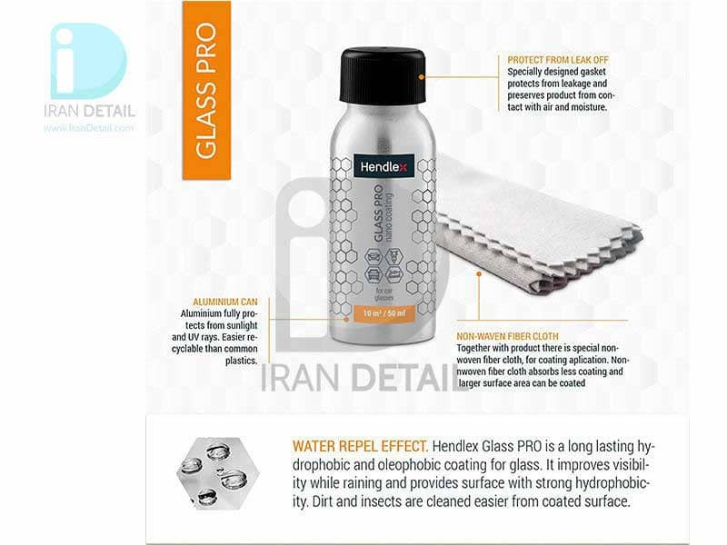 مایع نانو سرامیک شیشه حرفه ای هندلکس مدل Hendlex Glass Pro Nano Coating