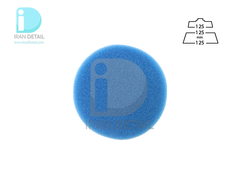 پد پولیش خیلی زبر روتاری آبی 125 میلی متری اس آر اس مدل SRS Rotary Coarse Polishing Pad Blue
