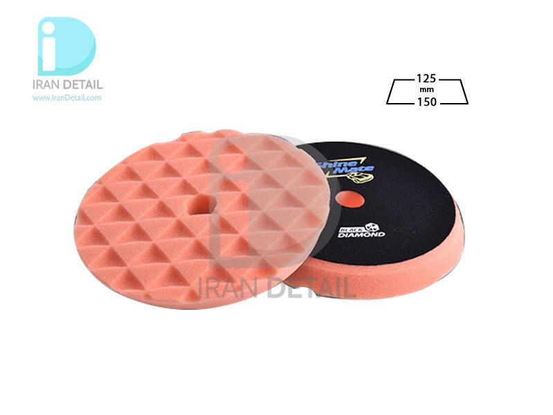 پد پولیش چند منظوره دوکاره نارنجی 125 میلی متری شاین میت مدل ShineMate Multi Purpose Foam Pad Orange T40