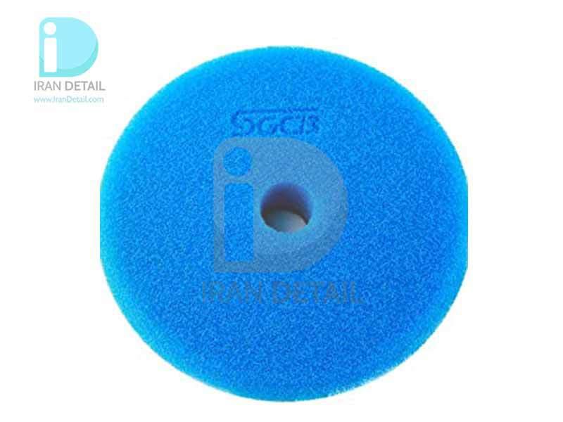 پد پولیش زبر آبی اس جی سی بی 130 میلی متری SGCB Foam Cutting Pad Hook & Loop Blue 5inches SGGA099
