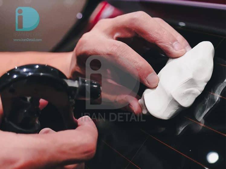 خمیر کلی 2 عددی نرم سفید مکس شاین MaxShine Detailing Clay Bar Fine Grade