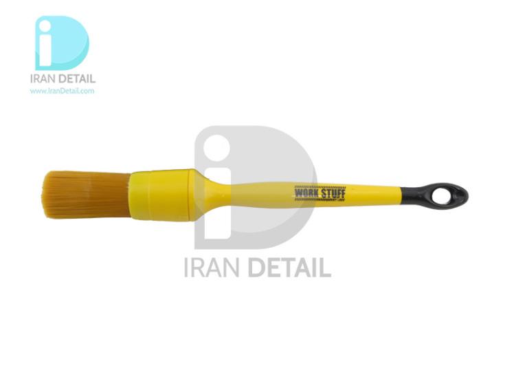 قلم دیتیلینگ سایز 24 آلبینو نارنجی ورک استاف مدل Work Stuff Detailing Brush Albino Orange 24mm